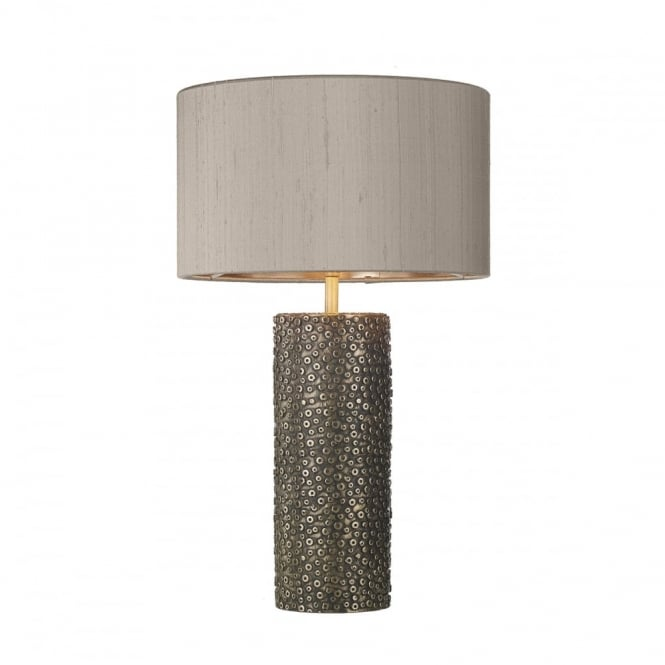 David Hunt Lighting AVIATOR - Cylinder Table Lamp In Bronze With Truffle Shade