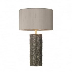 AVIATOR - Cylinder Table Lamp In Bronze With Truffle Shade