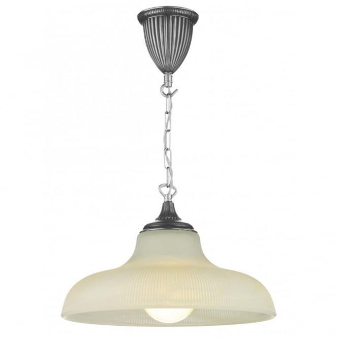 David Hunt Lighting BADGER - Pewter Ceiling Pendant Light Double Insulated