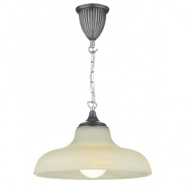 BADGER - Pewter Ceiling Pendant Light Double Insulated