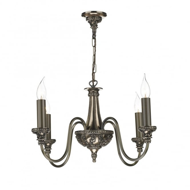 BAILEY - Traditional Bronze 4 Light Chandelier