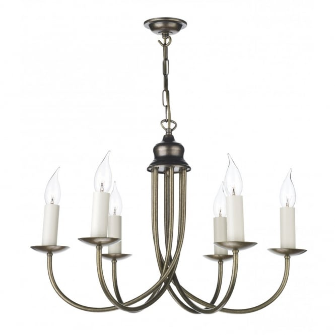 David Hunt Lighting BERMUDA - Aged Brass Ceiling Light