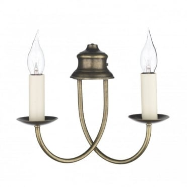 BERMUDA - Aged Brass Double Wall Light
