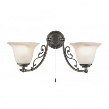 CAMPDEN - Double Wall Light Bracket In Antique Brass