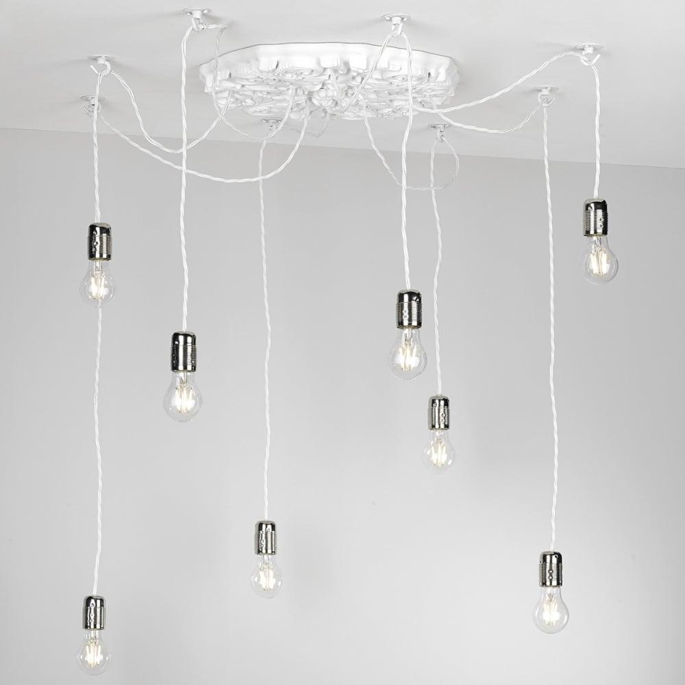 Impressive modern ceiling rose cluster pendant lighting and lights uk chatsworth decorative 8 light arctic white ceiling pendant cluster aloadofball Gallery
