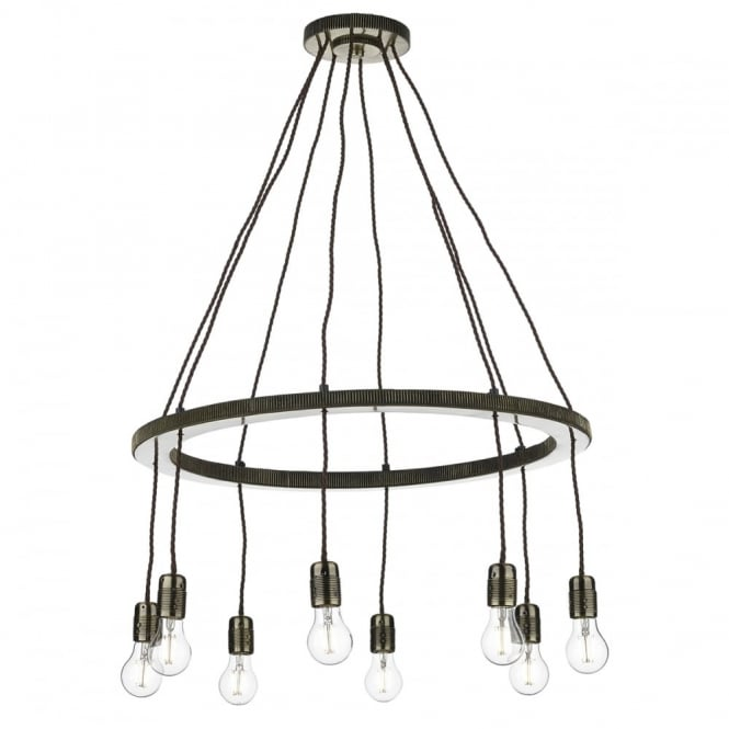 COG - 8 Light Ceiling Pendant Brass Ceiling