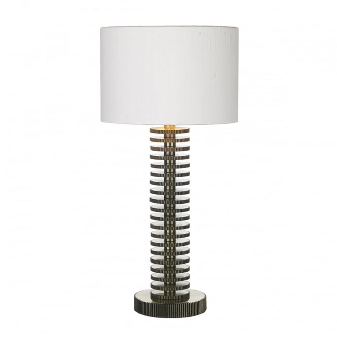 David Hunt Lighting COG - Table Lamp In Brass With Ivory Shade