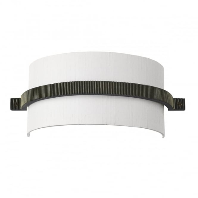 David Hunt Lighting COG - Wall Light Brass Complete With Silk Shade (Specify Colour) Wall