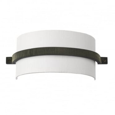 COG - Wall Light Brass Complete With Silk Shade (Specify Colour) Wall