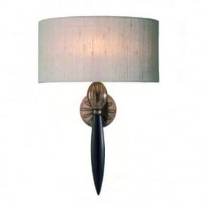 CONTOUR - Traditional Wall Light With Taupe Silk Shade