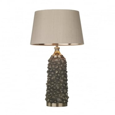 CORBIERE - Table Lamp In Bronze With Taupe Shade