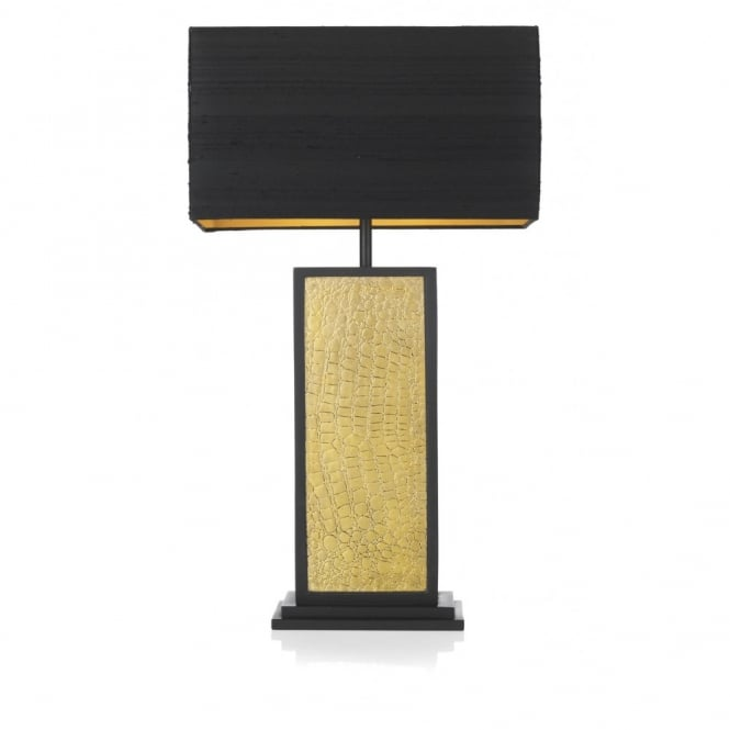 David Hunt Lighting CROC - Black and Gold Table Lamp