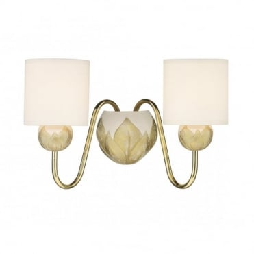 DAHLIA - Ivory Gold Double Wall Light