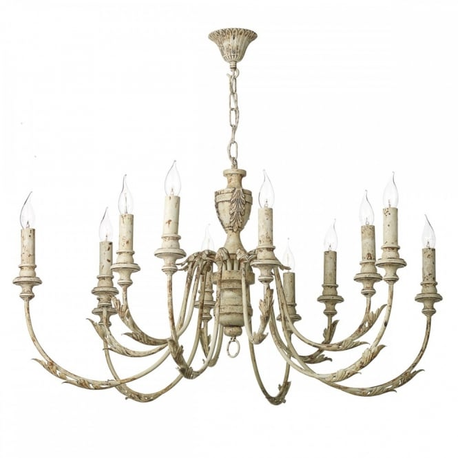 David Hunt Lighting EMILE - 12 Light Ceiling Pendant Rustic French
