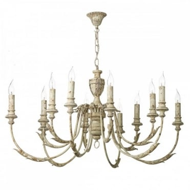 EMILE - 12 Light Ceiling Pendant Rustic French