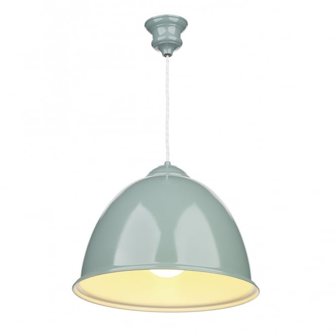 David Hunt Lighting EUSTON - Double Insulated Blue Ceiling Pendant