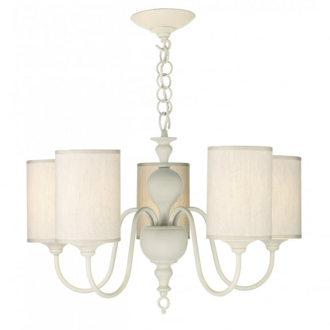 FLEMISH - Antique Cream 5 Light Ceiling Pendant