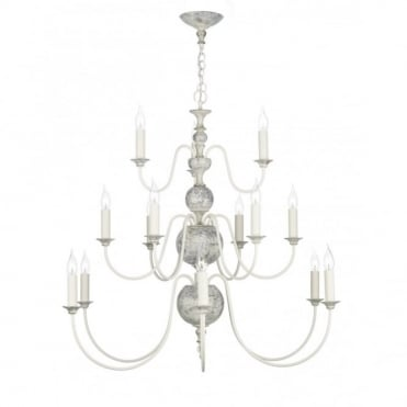 FLEMISH - Large Distressed Chandelier
