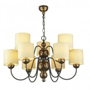 GARBO - 9 Light Bronze Ceiling Light