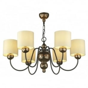 GARBO - Bronze Ceiling Light Cream Shades