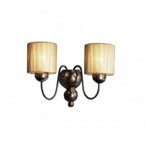 GARBO - Bronze Wall Light Gold String Shades