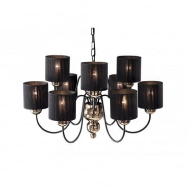GARBO - Large Bronze Black Ceiling Light