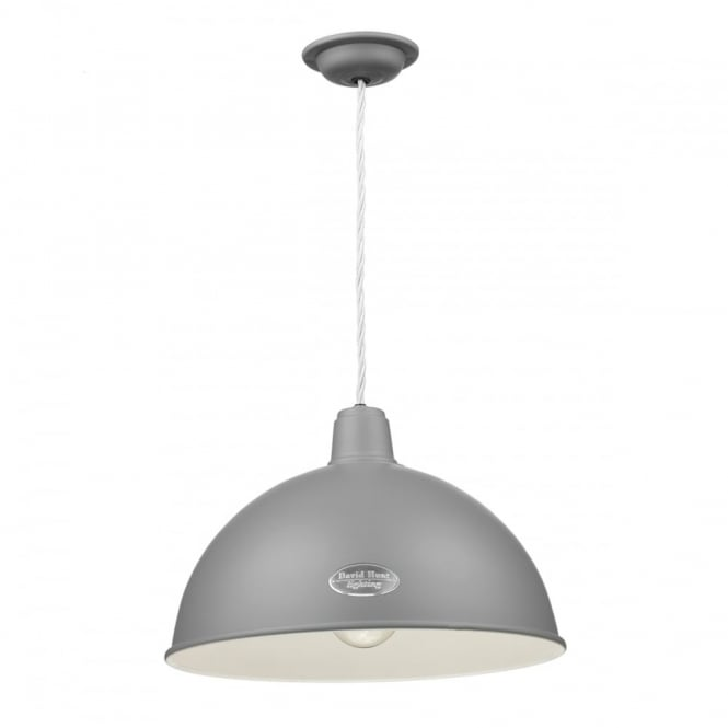 David Hunt Lighting GROUCHO - 1 Light Ceiling Pendant Lead Grey
