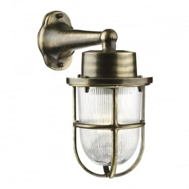 HARBOUR - Exterior 1 Light Down Wall Light Antique Brass Ip64