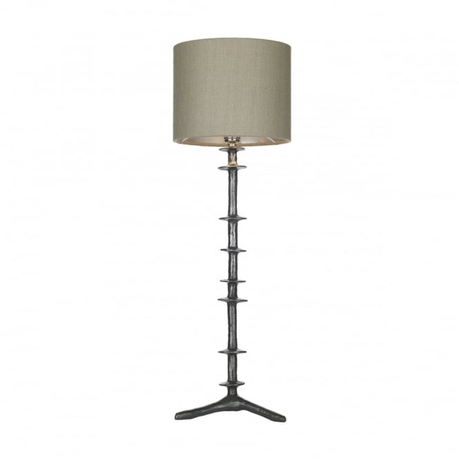 David Hunt Lighting ICARUS - Table Lamp Steel With Linen Grey Shade