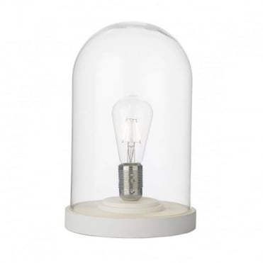 JEFFERSON - Cloche Table Lamp White/ Clear Table