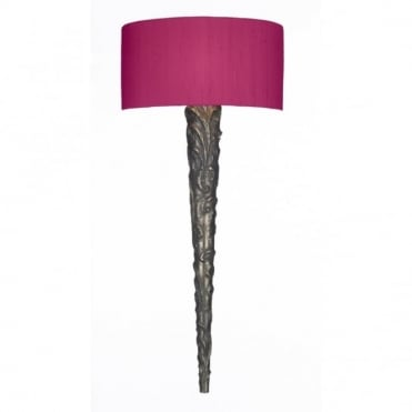 KNURL - Medieval Bronze Wall Light With Shade