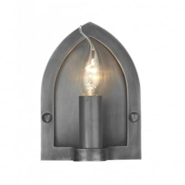 LINDISFARNE - Antique Pewter Wall Light