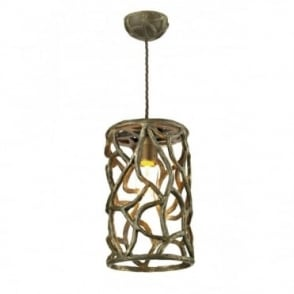 LYRA - Brown Gold Vine Look Ceiling Pendant
