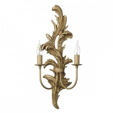 NAPOLEON - 2 Light Wall Bracket Large Distressed Gold