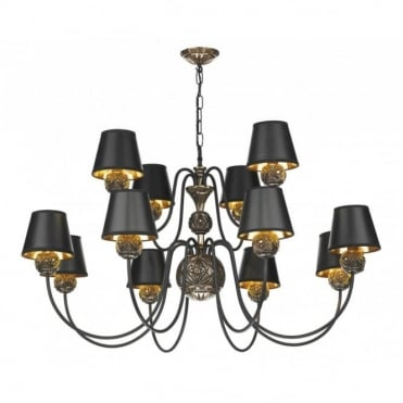 NOVELLA - Traditional 12 Arm Bronze Ceiling Light
