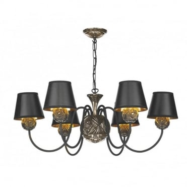 NOVELLA - Traditional 6 Arm Bronze Ceiling Light