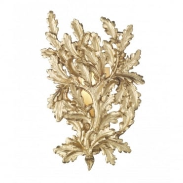 OAK - Decorative Gold Leaf Wall Light