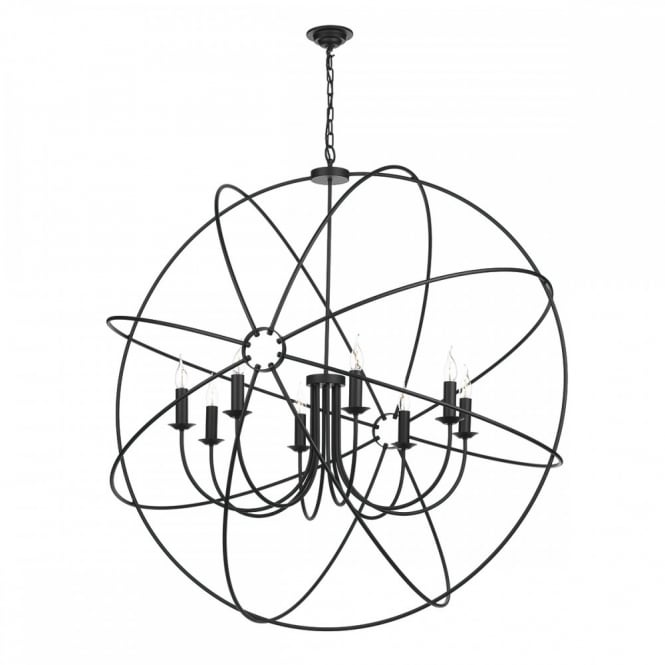 David Hunt Lighting ORB - 8 Light Ceiling Pendant Black