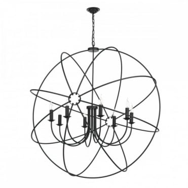 ORB - 8 Light Ceiling Pendant Black