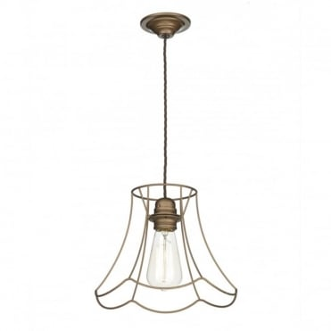 OREGON - 1 Light Pendant Large Bronze Spare Shade