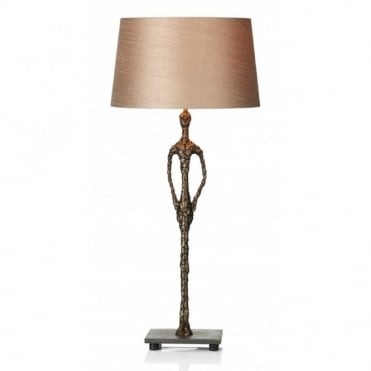 OSCAR - Sculpture Table Lamp Antique Bronze Complete With Shade