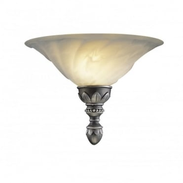 OXFORD - Antique Pewter Wall Uplighter