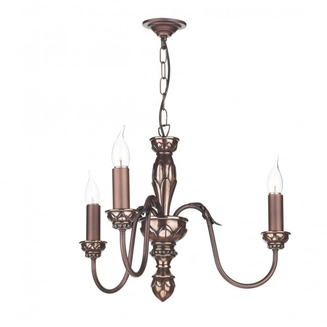 OXFORD - Copper Ceiling Pendant Light 3 Light