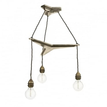 PROPELLOR - 3 Light Suspension Bronze