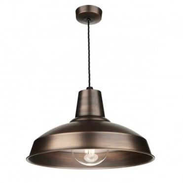 RECLAMATION - 1 Light Ceiling Pendant Antique Copper