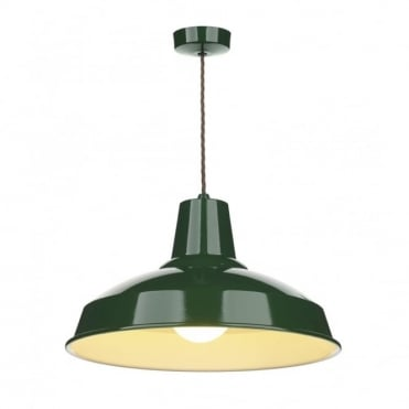 RECLAMATION - Racing Green Ceiling Pendant