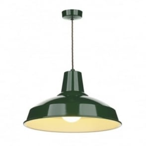 RECLAMATION - Recing Green Ceiling Pendant