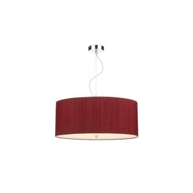 David Hunt Lighting RENOIR - Large 60Cm 3 Light Ceiling Pendant With  Peppercorn Rose Silk Shade
