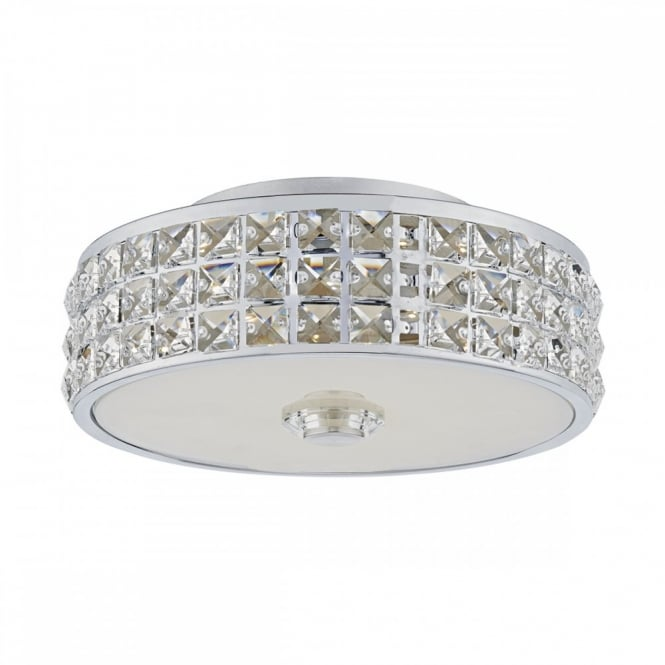 David Hunt Lighting REPTON - LED Flush LED Polished Chrome Clear