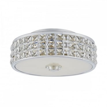 REPTON - LED Flush LED Polished Chrome Clear